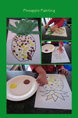 Pineapple fruit printing