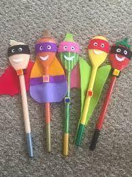 Character supertato stick puppets