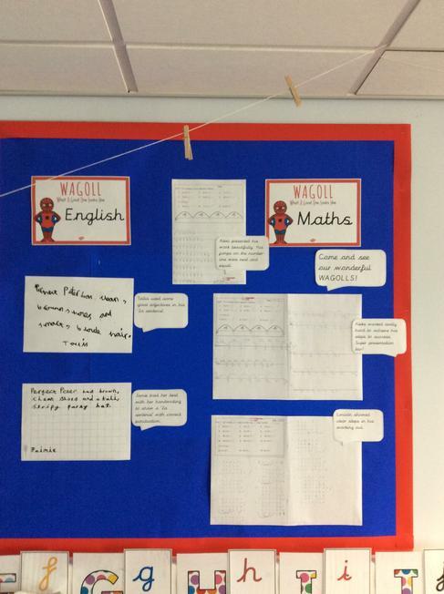 Maths and English WAGOLL