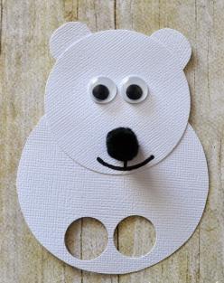 Polar bear finger puppets