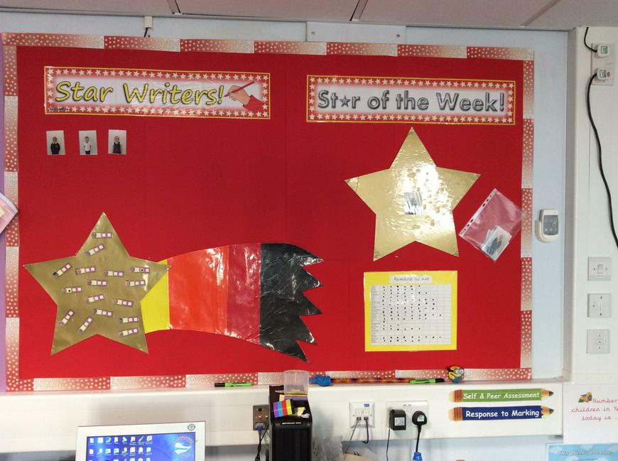Our Star Writer and Star of the Week board