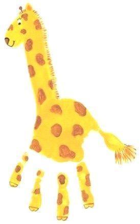 giraffe hand/arm print