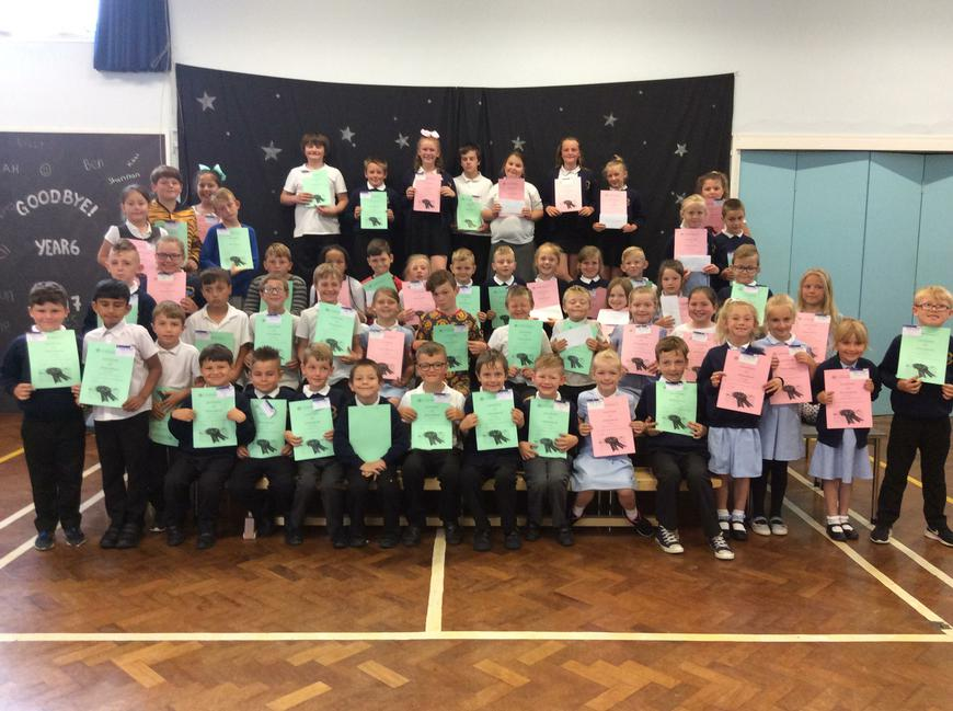 Well done to the 71 pupils!