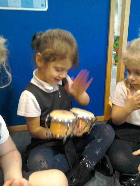 Making music with drums
