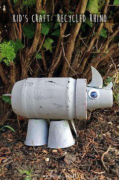 using recycled materials to make an Rhino