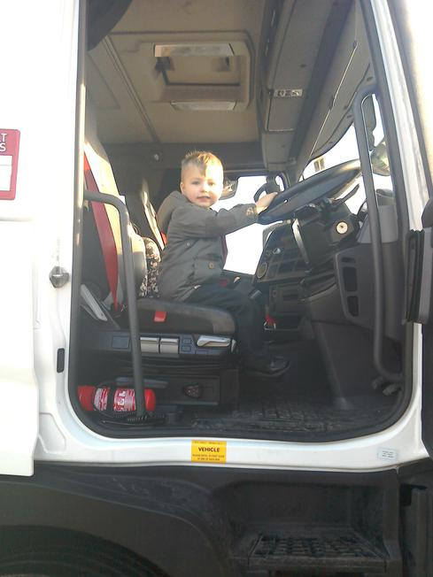 We all had a go in the drivers seat