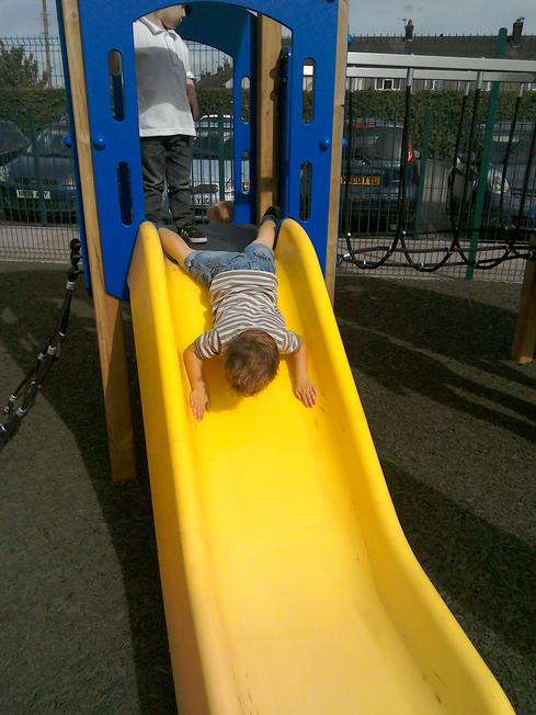 Alternative way to travel down the slide.