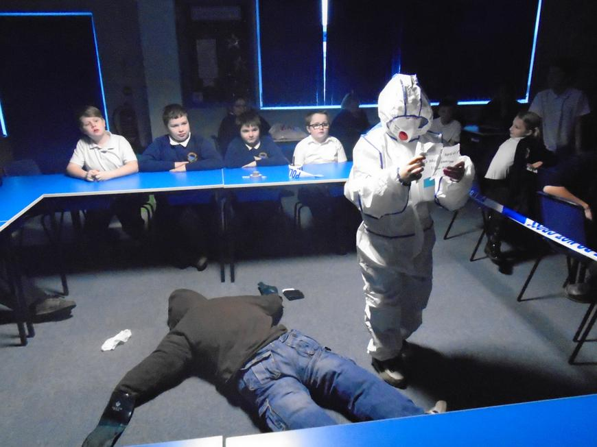 We learnt how to become crime scene investigators.