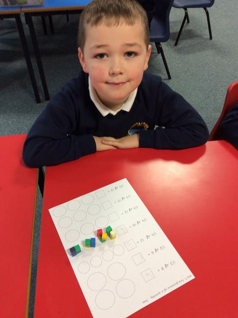 We used cubes to help us.