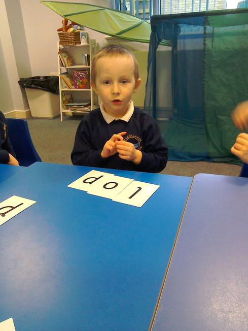 RWI making up words and blending