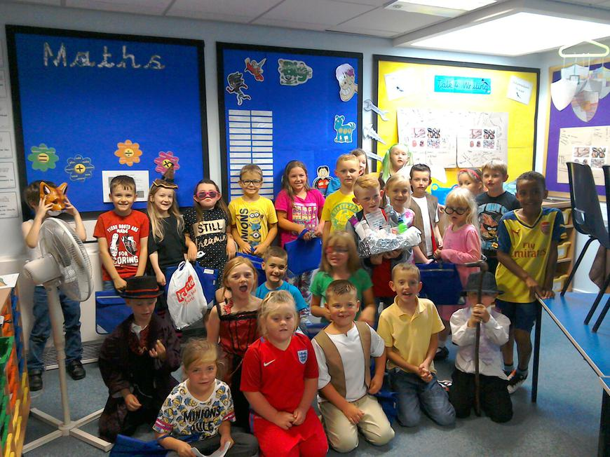 Some of our class members - fancy dress