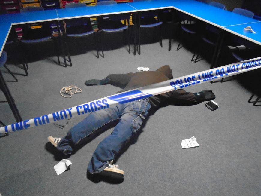 We came back to school to discover a crime scene!
