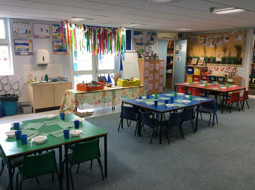 Our classroom ready for the Harvest supper.