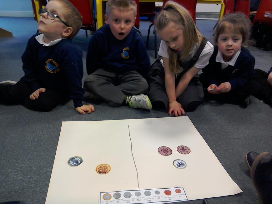 Looking at coins in maths