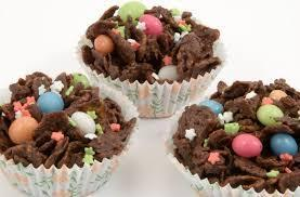 chocolate crispie buns