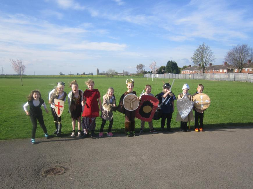 We had a visit today from some scary Vikings!
