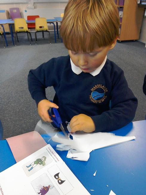 We have been learning how to use scissors
