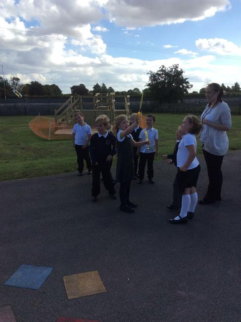 We looked at how bubbles move in the wind.