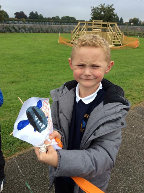 We made kites.
