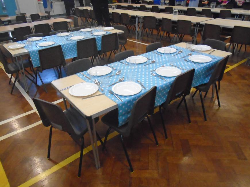 Tables ready for lunch!