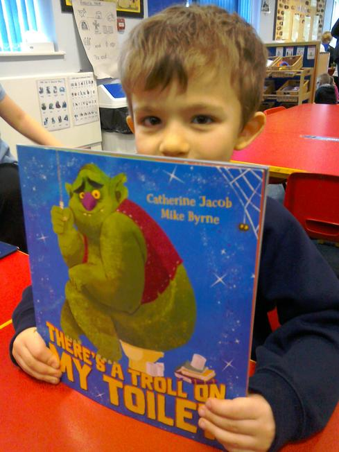 Oliver was our bring a book from home child