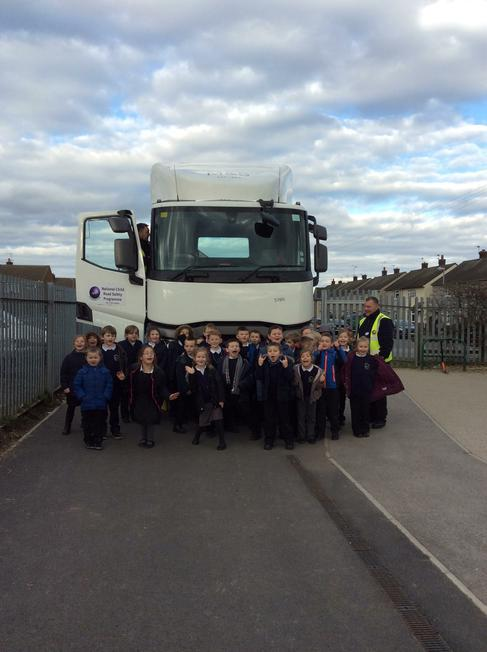 We have been learning about road safety.