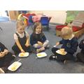 We enjoyed trying the food
