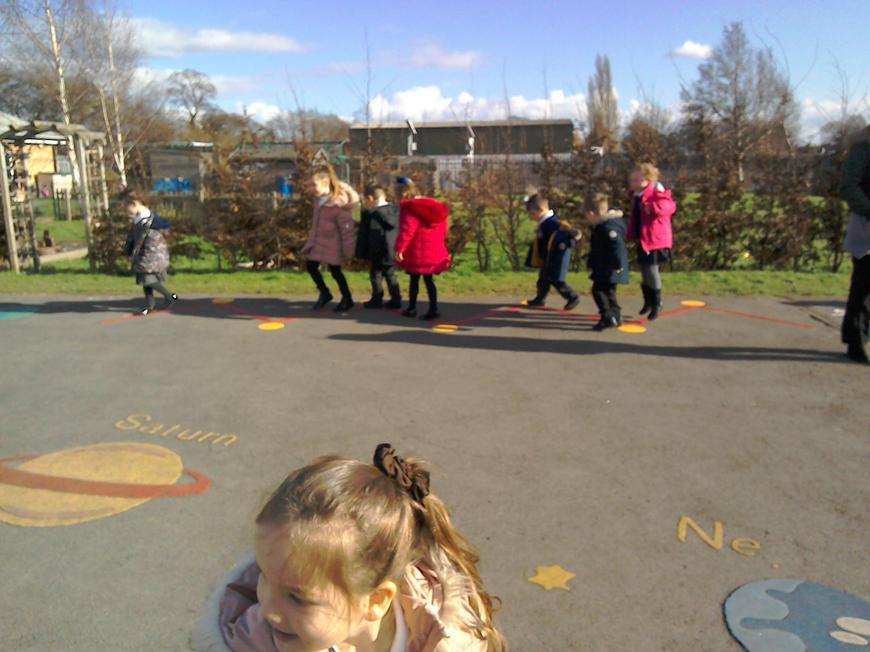 KS1 playground- transition links