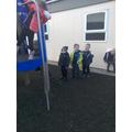 the fireman's pole is fun to slide down