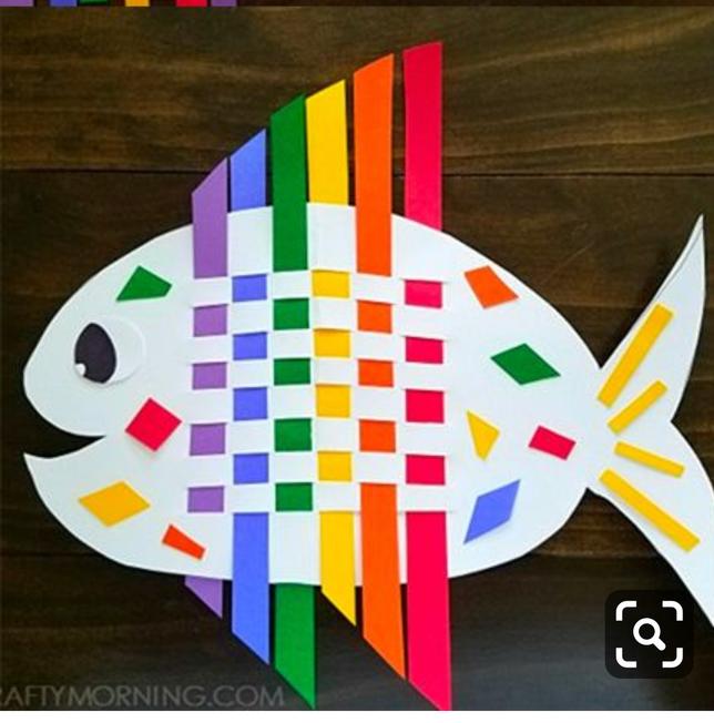 Weaving rainbow fish
