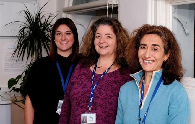 Office team. Louise Fincham, Cathy du Vergier and Zina Fusaro