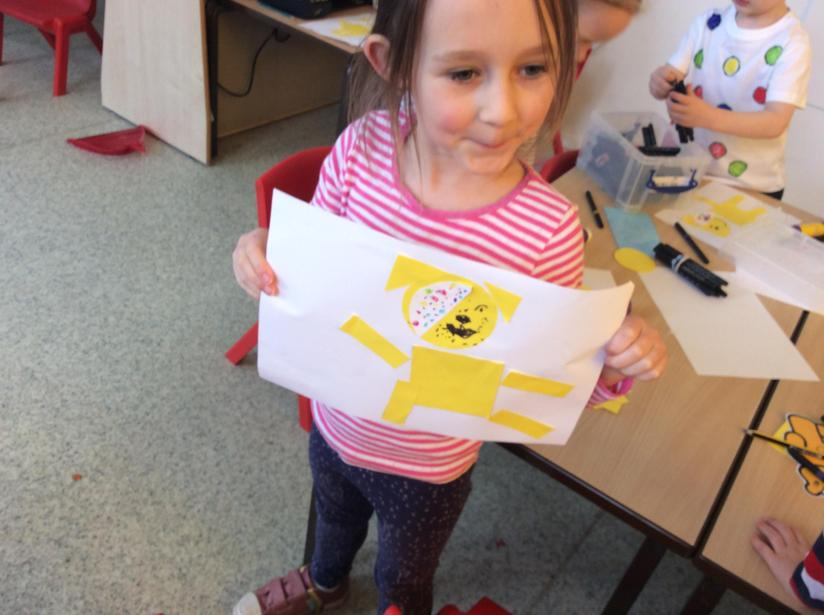 We carried on our learning of shape with Pudsey bear shape pictures!