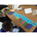 Matching numerals and shapes
