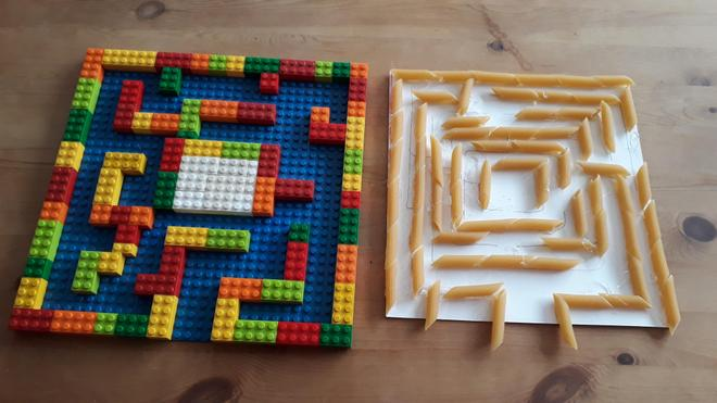 Here is a creative use of pasta!