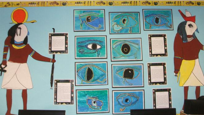 Our Eye of Horus display
