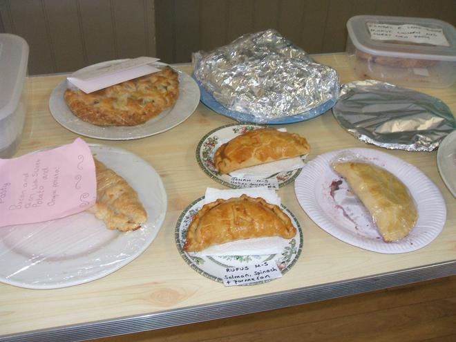 Some of our entries for the pasty competition