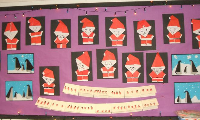 Our Christmas Origami and cards Display