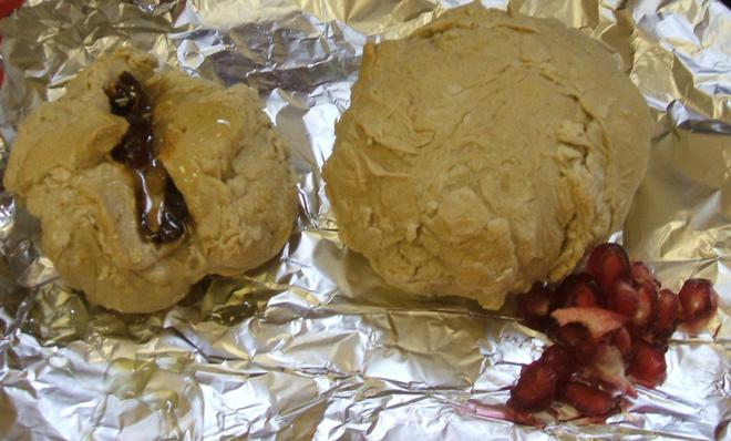 We made bread without using yeast.