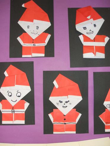Father Christmas origami-style