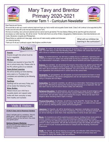 Class 2 Newsletter