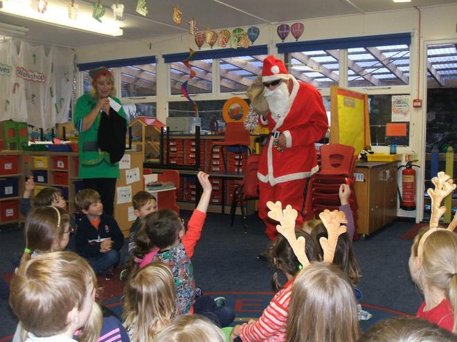 Father Christmas visited KS1