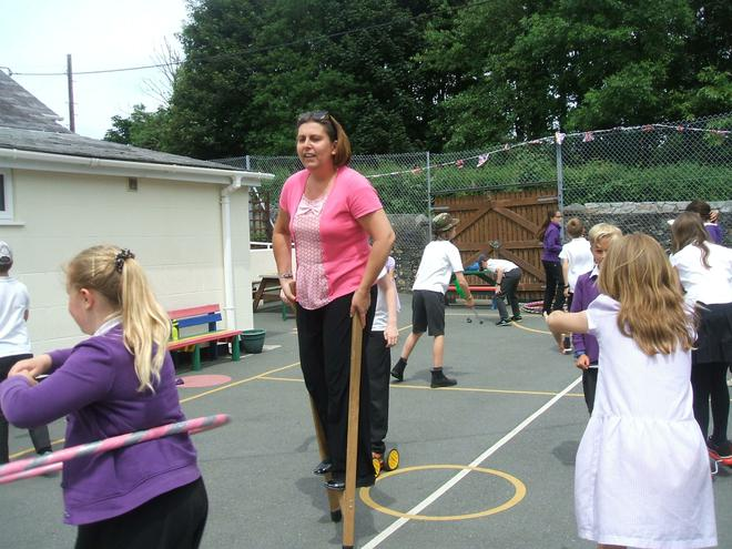Even staff had a go!