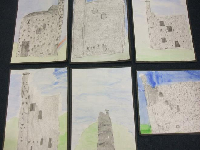 Artwork based on Wheal Betsy in Mary Tavy