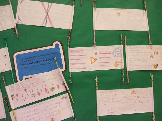 Scrolls based on the Jewish Torah  by Year 3 and 4