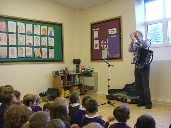 Paul from Wren Music sang to us
