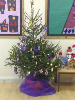 Our tree was donated by Tavistock Round Table