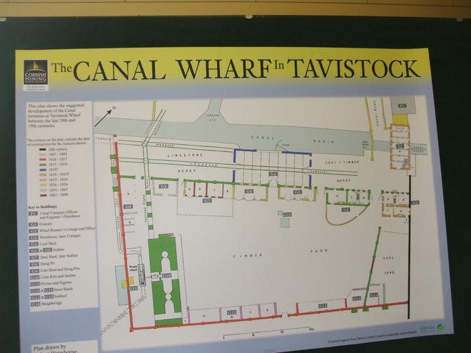 A map of Tavistock Canal