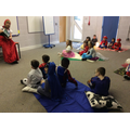 Mrs Hopkinson read to Year 1