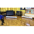 Year 2 football 'Knock Them Down' competition