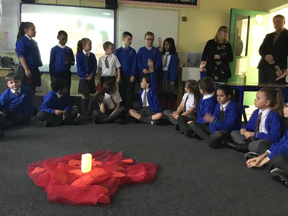 Year 5 led reflections in each class